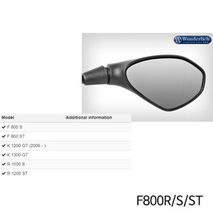 분덜리히 F800R/S/ST Mirror glass expansion SAFER-VIEW 우측 크롬색상 chromed